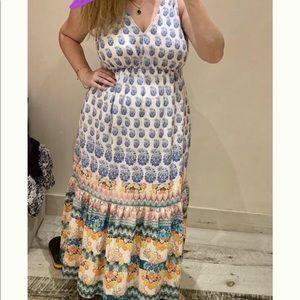 Anthropologie stunning sleeveless maxi dress